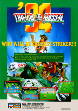 Dream Soccer '94 Coin Op Arcade cover artwork