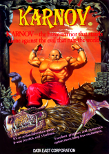 Karnov Coin Op Arcade cover artwork