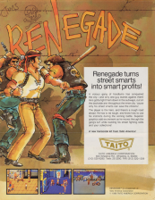 Renegade Coin Op Arcade cover artwork
