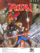 Trojan Coin Op Arcade cover artwork