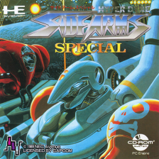 Hyper Dyne SideArms Special NEC PC Engine CD cover artwork