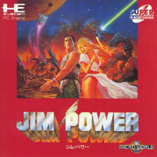 Jim Power - In Mutant Planet NEC PC Engine CD cover artwork