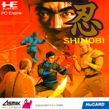 Shinobi NEC PC Engine cover artwork