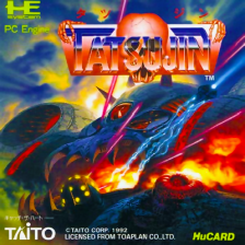 Tatsujin NEC PC Engine cover artwork