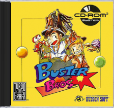 Buster Bros. NEC TurboGrafx 16 CD cover artwork