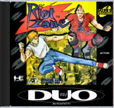 Riot Zone NEC TurboGrafx 16 CD cover artwork