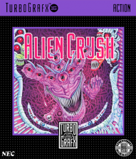 Alien Crush NEC TurboGrafx 16 cover artwork