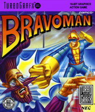 Bravoman NEC TurboGrafx 16 cover artwork