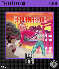 China Warrior NEC TurboGrafx 16 cover artwork