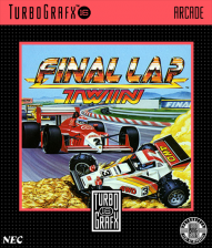 Final Lap Twin NEC TurboGrafx 16 cover artwork