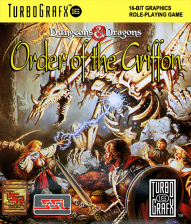 Order of the Griffon NEC TurboGrafx 16 cover artwork