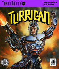 Turrican NEC TurboGrafx 16 cover artwork