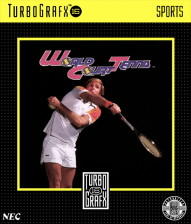 World Court Tennis NEC TurboGrafx 16 cover artwork