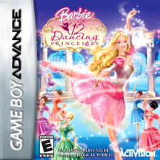 Barbie in the 12 Dancing Princesses Nintendo Game Boy Advance cover artwork