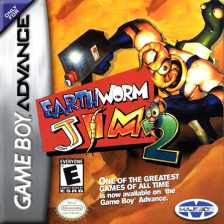 Earthworm Jim 2 Nintendo Game Boy Advance cover artwork