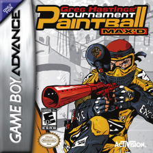 Greg Hastings' Tournament Paintball Max'd Nintendo Game Boy Advance cover artwork