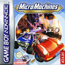 Micro Machines Nintendo Game Boy Advance cover artwork