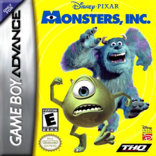 Monsters, Inc. Nintendo Game Boy Advance cover artwork