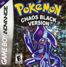Pokemon Chaos Black Nintendo Game Boy Advance cover artwork