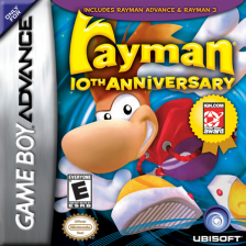 Rayman - 10th Anniversary Nintendo Game Boy Advance cover artwork