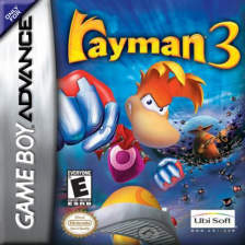 Rayman 3 Nintendo Game Boy Advance cover artwork