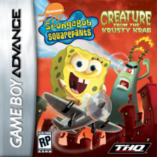 SpongeBob SquarePants - Creature from the Krusty Krab Nintendo Game Boy Advance cover artwork