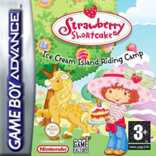 Strawberry Shortcake - Ice Cream Island - Riding Camp Nintendo Game Boy Advance cover artwork