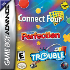 Three-in-One Pack - Connect Four + Perfection + Trouble Nintendo Game Boy Advance cover artwork