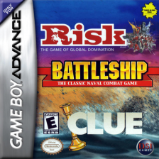 Three-in-One Pack - Risk + Battleship + Clue Nintendo Game Boy Advance cover artwork