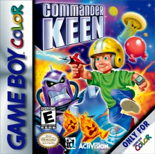 Commander Keen Nintendo Game Boy Color cover artwork
