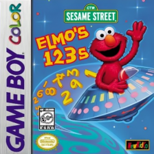 Elmo's 123s Nintendo Game Boy Color cover artwork
