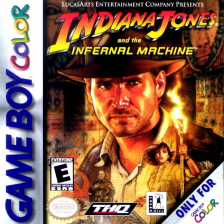 Indiana Jones and the Infernal Machine Nintendo Game Boy Color cover artwork