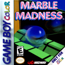 Marble Madness Nintendo Game Boy Color cover artwork