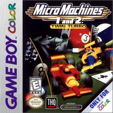 Micro Machines 1 and 2 - Twin Turbo Nintendo Game Boy Color cover artwork