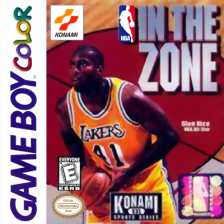 NBA In the Zone Nintendo Game Boy Color cover artwork