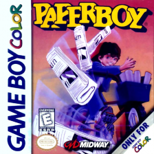 Paperboy Nintendo Game Boy Color cover artwork