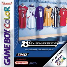 Player Manager 2001 Nintendo Game Boy Color cover artwork