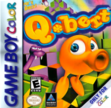 Q-bert Nintendo Game Boy Color cover artwork