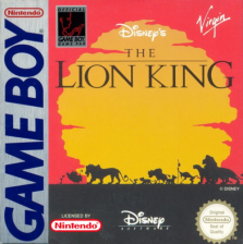 Lion King, The Nintendo Game Boy cover artwork