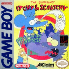 Simpsons Itchy & Scratchy, The - Miniature Golf Madness Nintendo Game Boy cover artwork