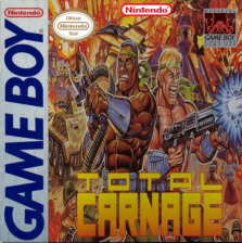 Total Carnage Nintendo Game Boy cover artwork
