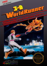 3-D WorldRunner Nintendo NES cover artwork