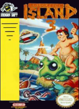 Adventure Island 3 Nintendo NES cover artwork