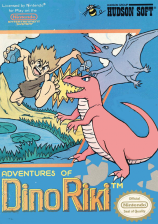 Adventures of Dino Riki Nintendo NES cover artwork