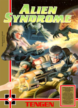 Alien Syndrome Nintendo NES cover artwork