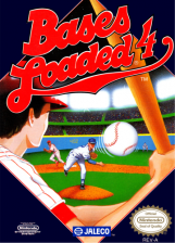 Bases Loaded 4 Nintendo NES cover artwork