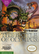 Battle of Olympus, The Nintendo NES cover artwork