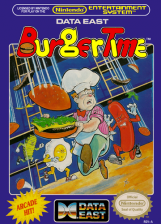 BurgerTime Nintendo NES cover artwork