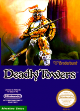 Deadly Towers Nintendo NES cover artwork