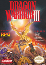Dragon Warrior III Nintendo NES cover artwork